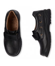 CHILDRENS PLACE BLACK BOYS DRESS SHOES