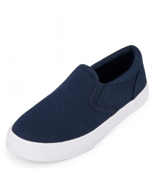 CHILDRENS PLACE BLUE BOYS WITH WHITE SOLE SLIP-ON SNEAKERS
