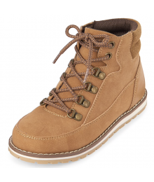 CHILDRENS PLACE BROWN BOYS LACE UP BOOT SHOES