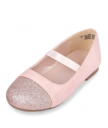 Childrens Place Pink Girls Glitter Ballet Flats
