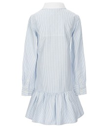 Polo Ralph Lauren Blue/White Striped Drop-Waist Oxford Dress  Big Girl