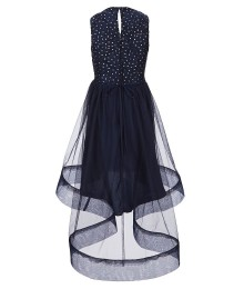 5934fc879a5 ... Xtraordinary Navy Beaded Lace Tulle High-Low Dress