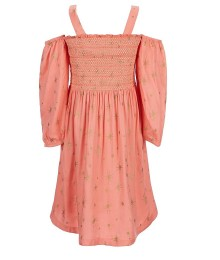 Jessica Simpson Pink Off The Shoulder Star Print Dress