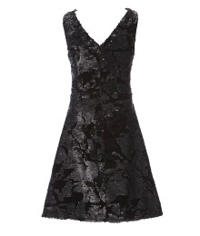 Gb Girls Black Sleeveless V-Neck Velvet Sequin Dress