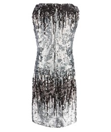 Us Angels Silver Sequin Shift Dress