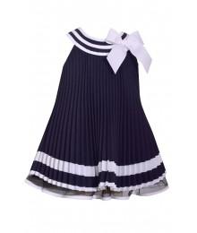 425fd22e8 Bonnie Jean Blue Pleat With Blue & White Collar Nautical Pleated Dress