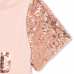 Childrens Place Pink Sequin Sleeve Princess Graphic Top