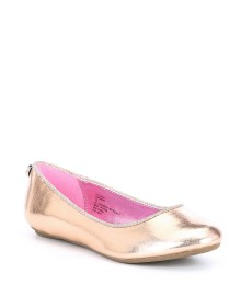 Steve Madden Rose Gold Patent Flat Shoes