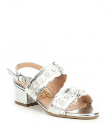 Sam Edelman Silver Beaded Sandals