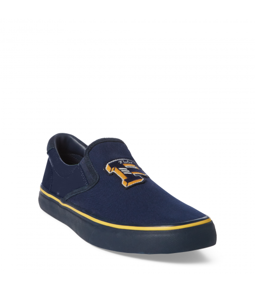"Polo Ralph Lauren Navy Wt Yellow & Blue ""P""  Sneaker - Adult Size"