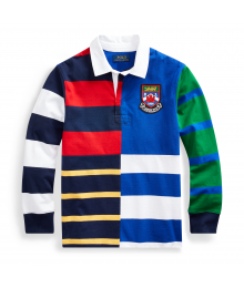 Polo Ralph Lauren Navy Multi Long Sleeve Stripe Jersey Rugby Shirt