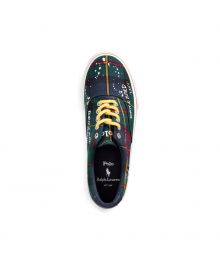 Polo Ralph Lauren Navy/Green/Tartan/Plaid White Splash Sneaker