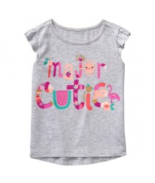 Gymboree Grey Major Cutie Tee
