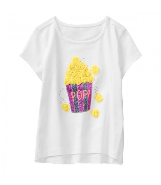 Gymboree White Popcorn Tee