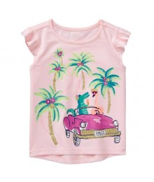 Gymboree Pink Beach Trip Tee  Little Girl