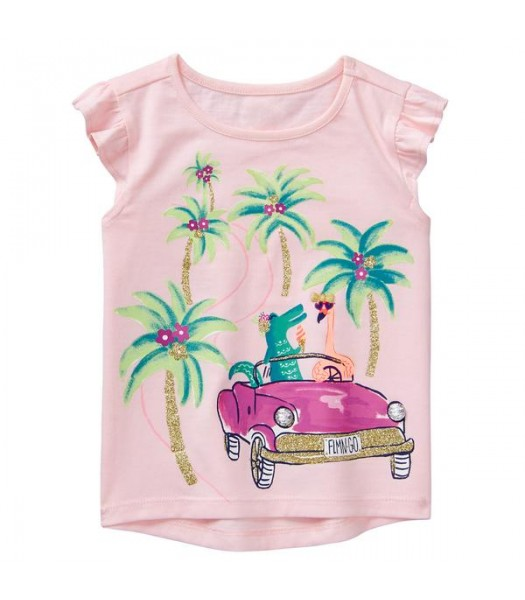 Gymboree Pink Beach Trip Tee