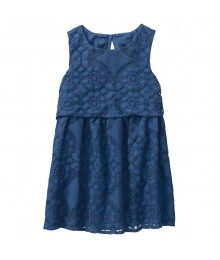 Crazy 8 Royal Blue Lace Ruffle Dress