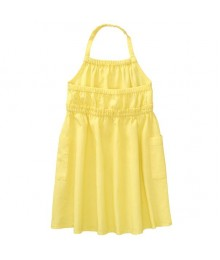 Crazy 8 Yellow Halter Midi Dress