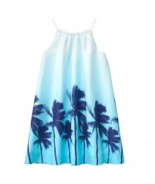 Crazy 8 Blue Beach Palm 2 Tone Dress