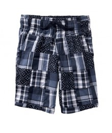 Gymboree Navy Plaid Shorts