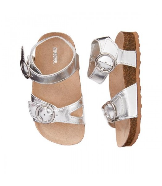 Gymboree Silver Metallic Sandals