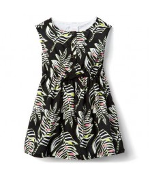 Gymboree Black Zebra Leaf Dress