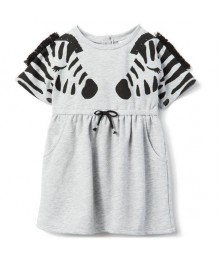 Gymboree Grey With Black Zebra Dress
