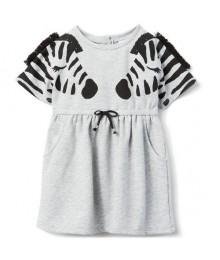 Gymboree Grey With Black Zebra Dress