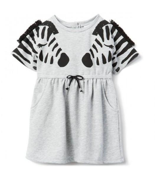 Gymboree Grey With Black Zebra Dress  Little Girl