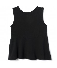 Gymboree Black With White/Gold Silver Embroidery Tank