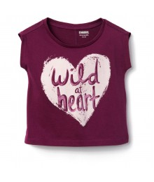 Gymboree Oxblood Wild Heart Tee  Little Girl