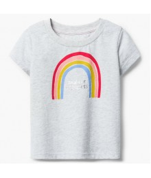 Gymboree Grey Rainbow Tee