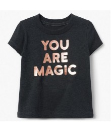 Gymboree Dark Grey You Are Magic Tee  Little Girl