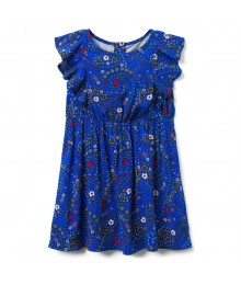 Crazy 8 Royal Blue Ruffle Sleeve Dress