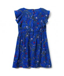 Crazy 8 Royal Blue Ruffle Sleeve Dress  Little Girl