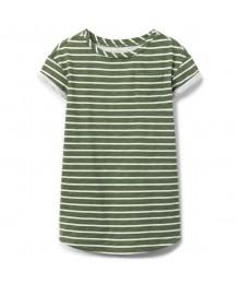 Crazy 8 Olive Green /White Stripe T-Shirt Dress