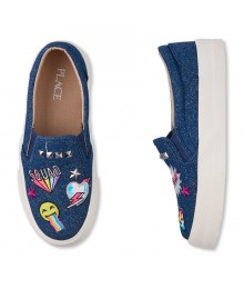 Children's Place Blue Denim Patch Embellished Sneaker