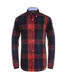 Chaps Black/Red Plaid Multi L/S Shirt
