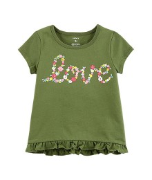 Carters Green Love Tee