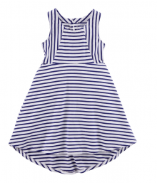 Carters Blue/White Stripe Sleeveless A-Line Dress