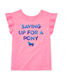 Okie Dokie Pink  Saving Up For A Pony Tee  Little Girl