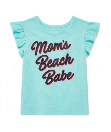 Okie Dokie Aqua Green  Mums Beach Babe Tee  Little Girl