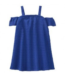 Gymboree Blue Lace Eyelet Dress