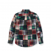 Polo Ralph Lauren Multi (Red/Blue/Green) Patchwork L/S Small Pony Shirt