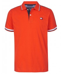 Tommy Hilfiger Red Boys With Tommy Hilfiger Shoulder Trim Polo Shirt