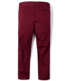 Childrens Place Red Skinny Husky Chino Pants
