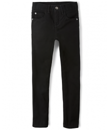 Childrens Place Black Wash Skinny Jeans
