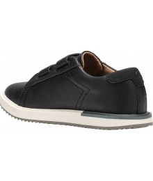 Hush Puppies Black Leather Double Strap Shoes