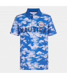 Nautica Blue/White Camouflage Polo Shirt