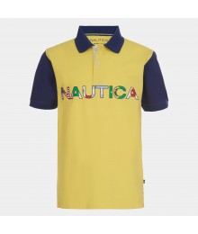 Nautica Yellow Nautical Flags Polo Shirt Big Boy